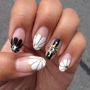 Black and White Spring Floral