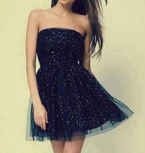 blue...glitter...short dress :-*
