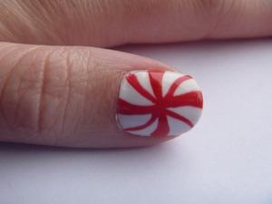 Christmas Peppermint Nails, December 11 2011