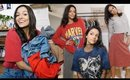 THRIFT WITH ME FOR FALL 2019! Haul + Try on *aka me trying to model*