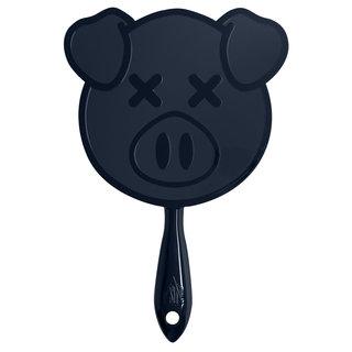Pig Hand Mirror Black