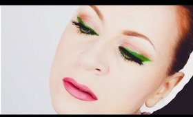 Fresh Spring Green with Pink Lips Makeup Tutorial