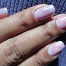 Speckled water coloured nails
