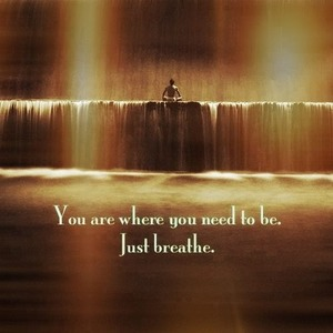 You are where you need to be. Just Breathe. Xoxo #regram from @dailydimmick #mindfulmonday #inspiration #intention #faith #love #life #grace