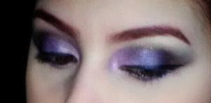 Purple smokey eye I love to do :)