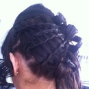 plaited prom updo