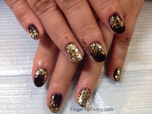 DETAILS HERE - http://fingertipfancy.com/black-gold-silver-holograms-glitter