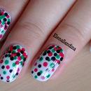 Christmas Confetti Nail Design