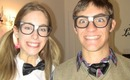 His & Her Nerd Costumes and Makeup