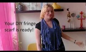 ✂ DIY: Fringe scarf out off a dress