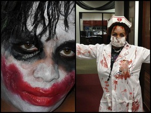me as the joker and some psycho nurse I made up lol