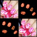 Glowing Acid Wash Nails!