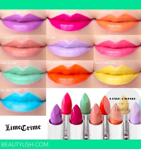 Lime Crime Lipstick Swatches | Marlin U.'s Photo | Beautylish