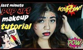 Easy POP ART Halloween Inspired Makeup