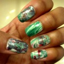 This was my first ever attempt at water marbling, haha.