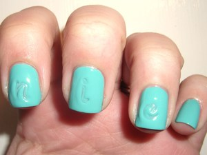 Monogrammed Nails http://polishmeplease.wordpress.com