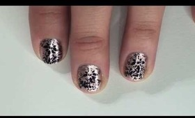 METALLIC FLORAL NAILS