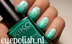 Tutorial | Kiko Mint Leopard Print | Konad | Ombre (english version)
