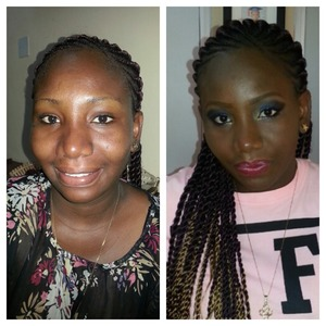 Before and after pix of a photoshoot