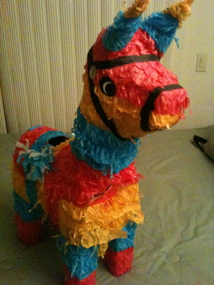Rainbow Llama.. isn't she beautiful.. we saved her from destruction one night.. the details of that night are a little blurry, but it's all about the animals right