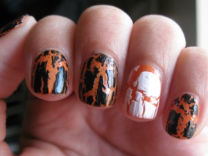 Just an orange and black-and-white crackle.