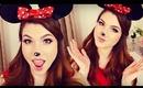 Minnie Mouse Makeup, Hair, & DIY Headband Ears I Halloween 2013