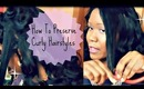 How To Preserve Curly Hairstyles / Roller Sets :  2 Different Ways Flexi Rods, and Pincurls Part 1