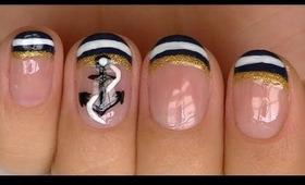 Nautical Nail Design