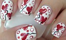Nail Art - Sweet Valentine Collaboration - Heart Balloons -