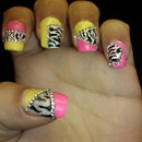 80'S Zebra Print Throwback Nails