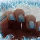 Glitter winter gradient.