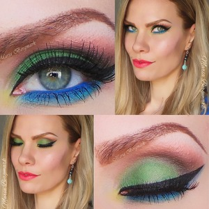 A matte colorful springlook. For tutorial and complete product list you're more than welcome to visit my blog:  http://mariabergmark.wordpress.com/  ❤