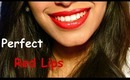 Perfect Red Lips Tutorial ♥ Make lipstick last all day!