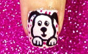 Cute Dog nailart video tutorial: www.youtube.com/nailartbynidhi