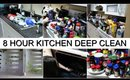 8 HOUR KITCHEN DEEP CLEAN | EXTREME CLEAN WITH ME | SATISFYING CLEAN WITH ME