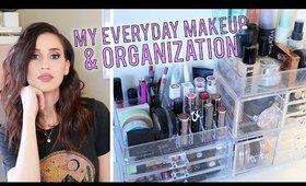 My NEW Makeup Organization & Everyday Makeup