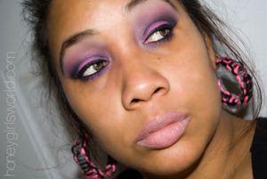Using I-Candy Couture Mineral Eye Shadows in: Only in My Dreams, Hawaiian Hunny, Roselani, Peaches & Creme and New Moon