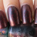 Essence Colour&go Chic reloaded + Pepa cosmetics red glitter nail polish