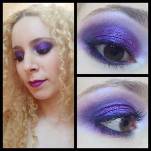 The Deep Purple gig was last Friday and I couldn't turn up without some aptly deep purple makeup and most sassy outfit.   I went purple all over and used my favourite purple eyeshadows including Maybelline Color tattoo Painted Purple as a base, MAC Violet pigment and Vellum, Inglot #439 #441, Lime crime Empress and deepened it all up with Sugarpill Stella. To add glam, I couldn't go past a light sprinkling of Eye Kandy Sour Grape and Jelly bean.  http://michtymaxx.blogspot.com.au/2013/03/deep-purple-gig-look-ootd.html