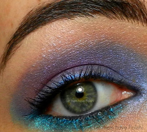 A simple Blue-Purple Look
