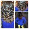 One of my lovely clients! Curls for a night out