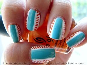 turquoise & orange <3