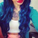 Turquoise / blue hair