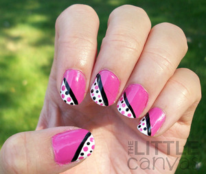 http://thelittlecanvas.blogspot.com/2012/09/pink-dotted-tip-manicure.html