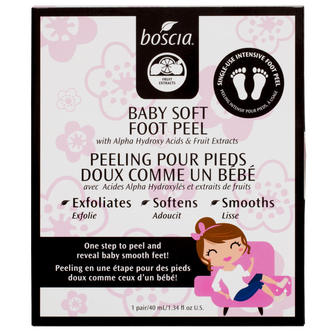 boscia Baby Soft Foot Peel product smear.