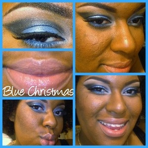 Beautiful Blue and Silvers w/ Nude Lips