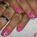 Rose Nails/Nail Art/Flower Nails/Pink Nails/Fucsia Nails