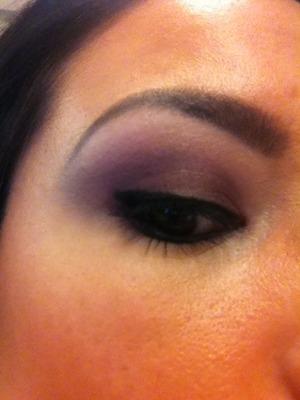 Matte purple eye