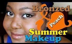 Bronzed Peach Summer Makeup ♥ Discount June