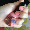 Coral w/ Purple Glitter